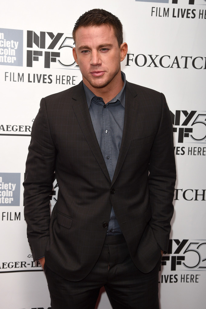 Channing Tatum Suits Up for 'Foxcatcher' Premiere