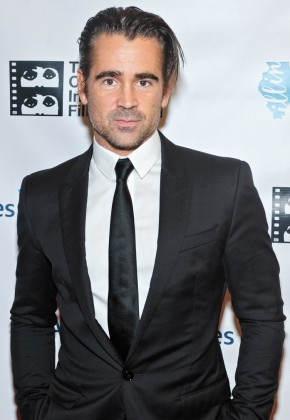 Attending the October 9th premiere of 'Miss Julie' at the opening night of the 50th annual Chicago Film Festival, actor Colin Farrell was dressed to impress in a slim-cut black tailored one-button suit.