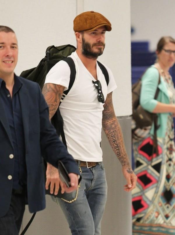 David Beckham Hat Denim Jeans