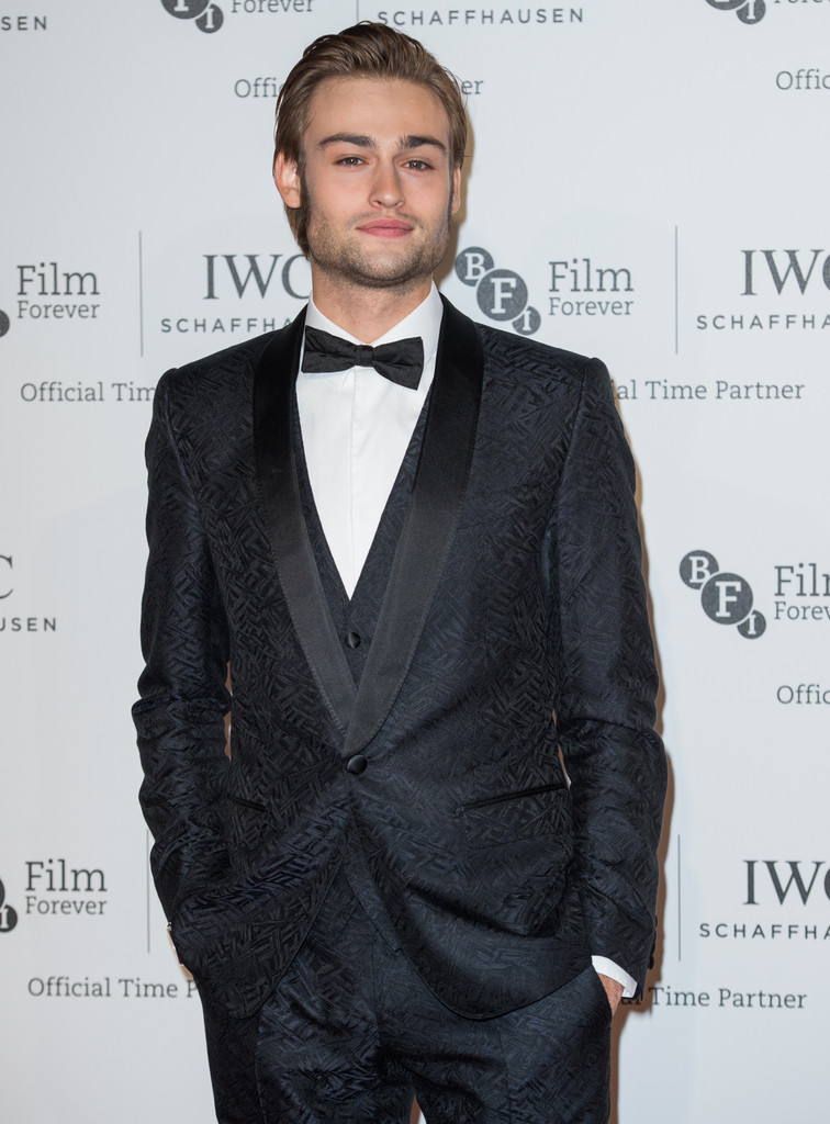 Douglas Booth Debuts Thick Sideburns at IWC Gala Dinner