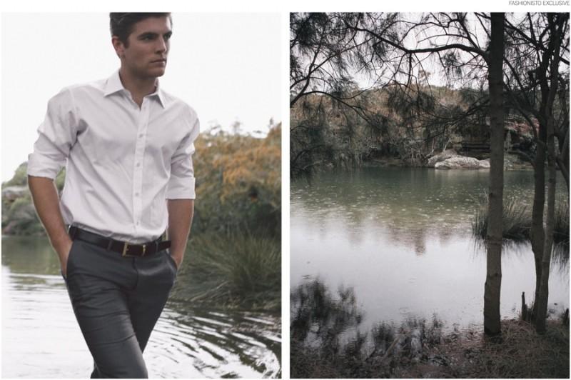 Sam Wines IMG Models Sydney wearing Zegna