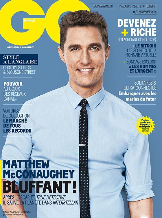 Matthew McConaughey Covers GQ France November 2014 Issue