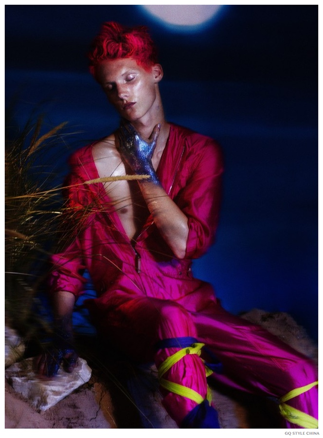 The Moon: Valters Medenis & Charlie James Go Technicolor for GQ Style China