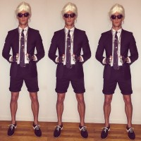 Garrett Neff channels the signature quirks of designer Karl Lagerfeld.