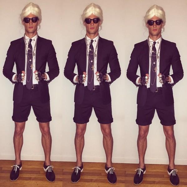 Garrett Neff channels the signature quirks of designer Karl Lagerfeld.