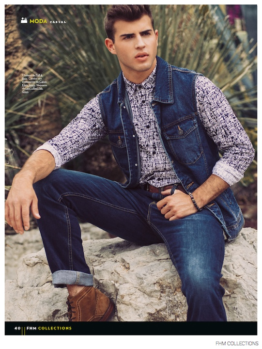Humbert Clotet Sports Denim Fashions for FHM Collections