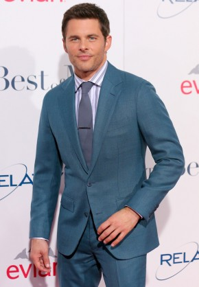 Attending the Los Angeles premiere of his latest movie, 'The Best of Me' on October 7, 2014, actor James Marsden brightened up the red carpet with a suit from Thom Sweeney. Celebrating the premiere event at the Regal Cinemas LA Live in Los Angeles, California, Marsden wore Thom Sweeny's teal wool suit with a gray tie, perfectly complemented by a gray and white dress shirt.