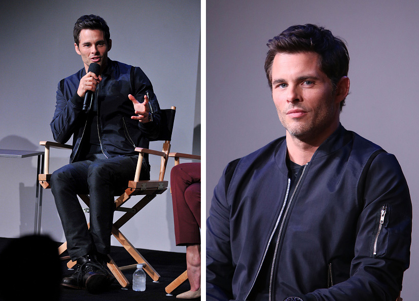 James Marsden Attends Apple Store Soho Event in The Kooples Bomber ...