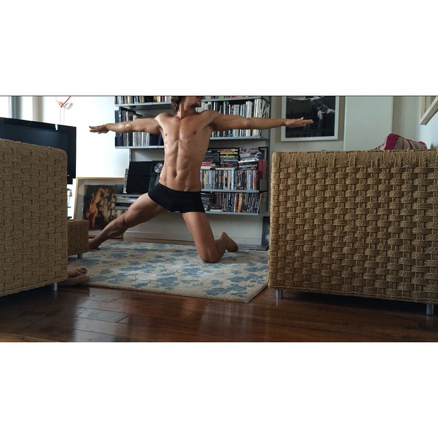 Jarrod Scott shares a core stretch from photogrpaher Mariano Vivanco's pad