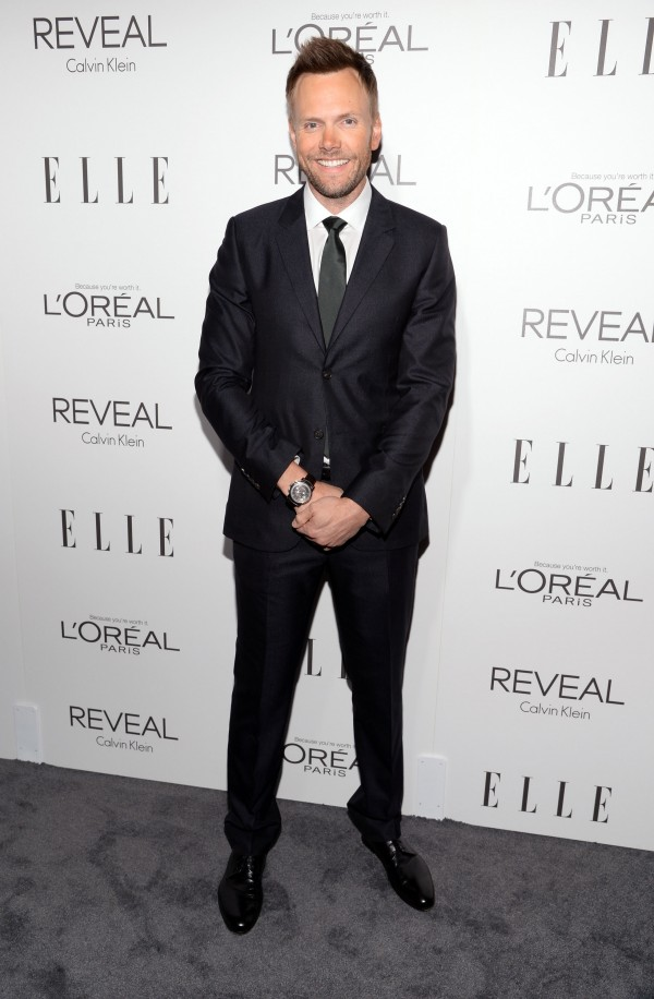 The host of Elle's 21st Annual Women in Hollywood Celebration, comedian and actor Joel McHale wore Calvin Klein Collection for  the October 20th event held at the Four Seasons Hotel in Beverly Hills.