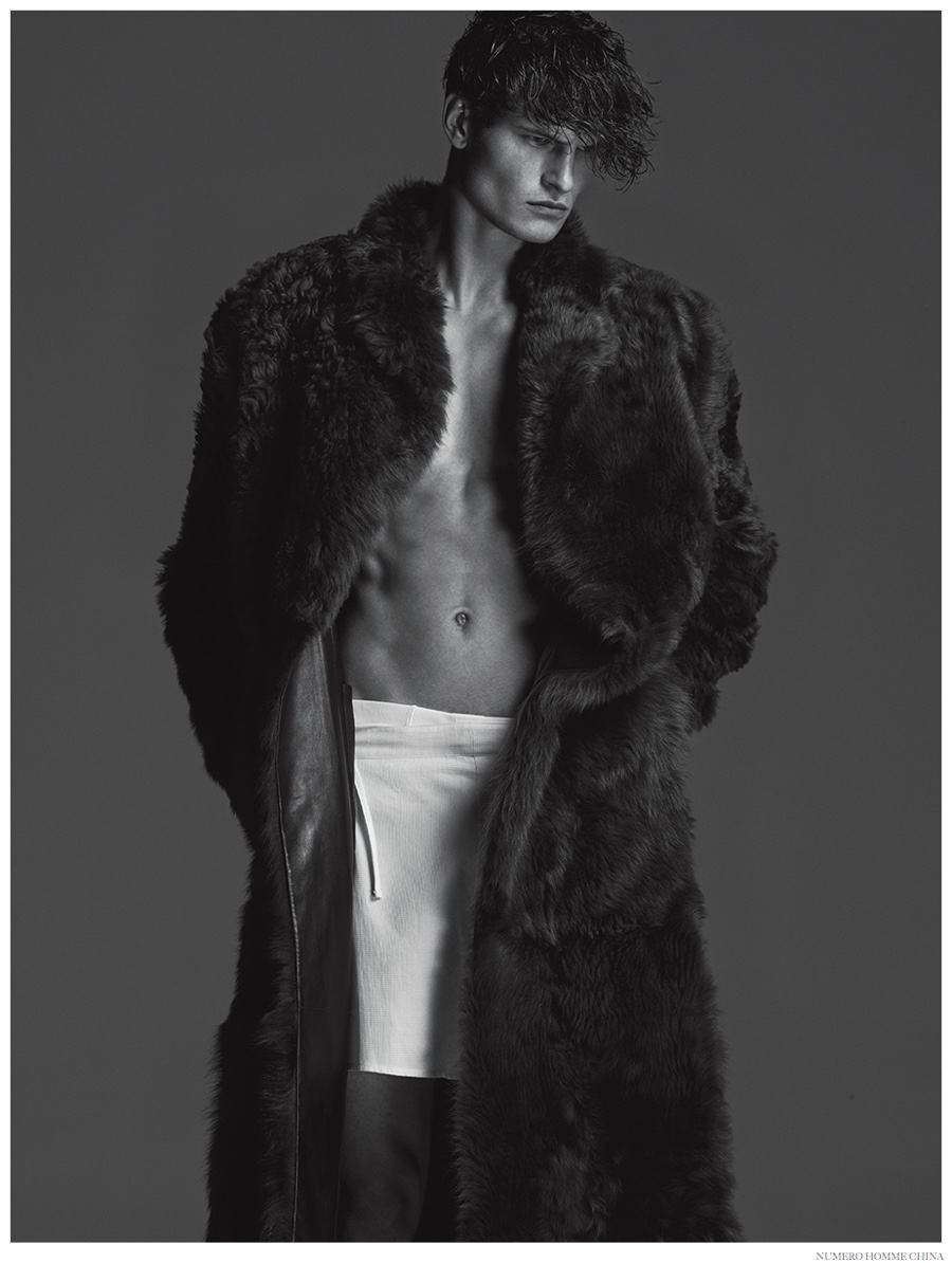 John Todd Dons Luxe Fall Furs for Numero Homme China Fashion Editorial