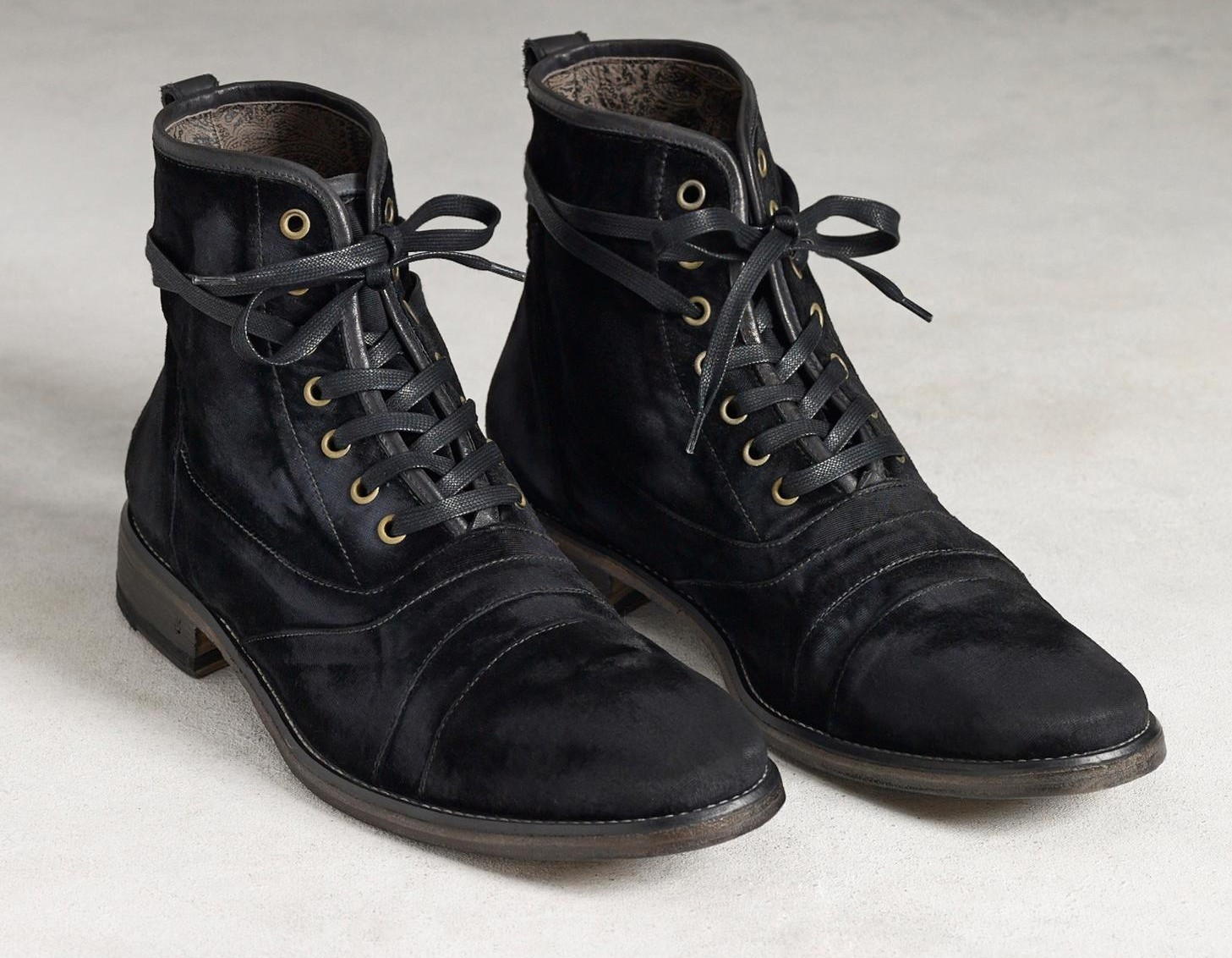 john varvatos adds velvet to the mix with designer boots