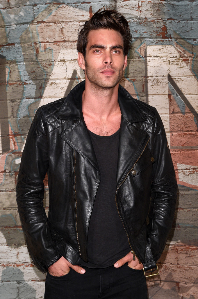 Touching down in New York City, top Spanish model Jon Kortajarena was on hand for Chanel's dinner celebrating its new film project with Baz Luhrmann. Attending the dinner on October 13th, Jon was a sleek vision in head to toe black. Going for quite the dark and brooding look, Jon finished black jeans and a casual tee with a leather biker's jacket.