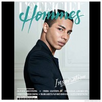 Balmain creative director Olivier Rousteing covers the most recent edition of L'Official Hommes Middle East. Photographed by Stephanie Volpato for the magazine's fourth issue, Rousteing poses for contemplative images. For the accompanying feature story, Rousteing sits down with L'official Hommes Middle East editor-in-chief Hassan Al-Saleh to discuss his vision for the trendy Parisian label.