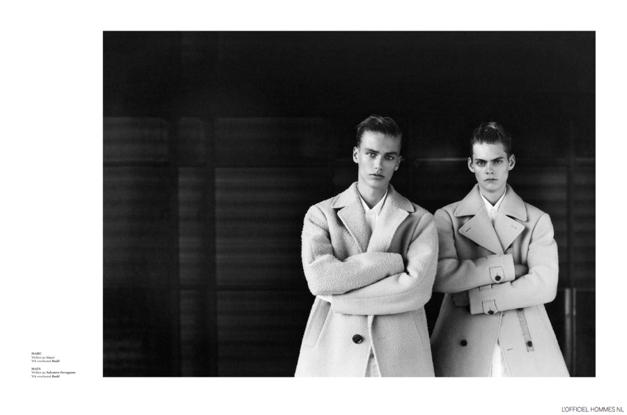 Shadowplay: Mats Van Snippenberg & Marc Schulze for L'Officiel Hommes NL