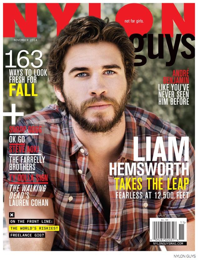 Liam Hemsworth Covers Nylon Guys November 2014 Issue