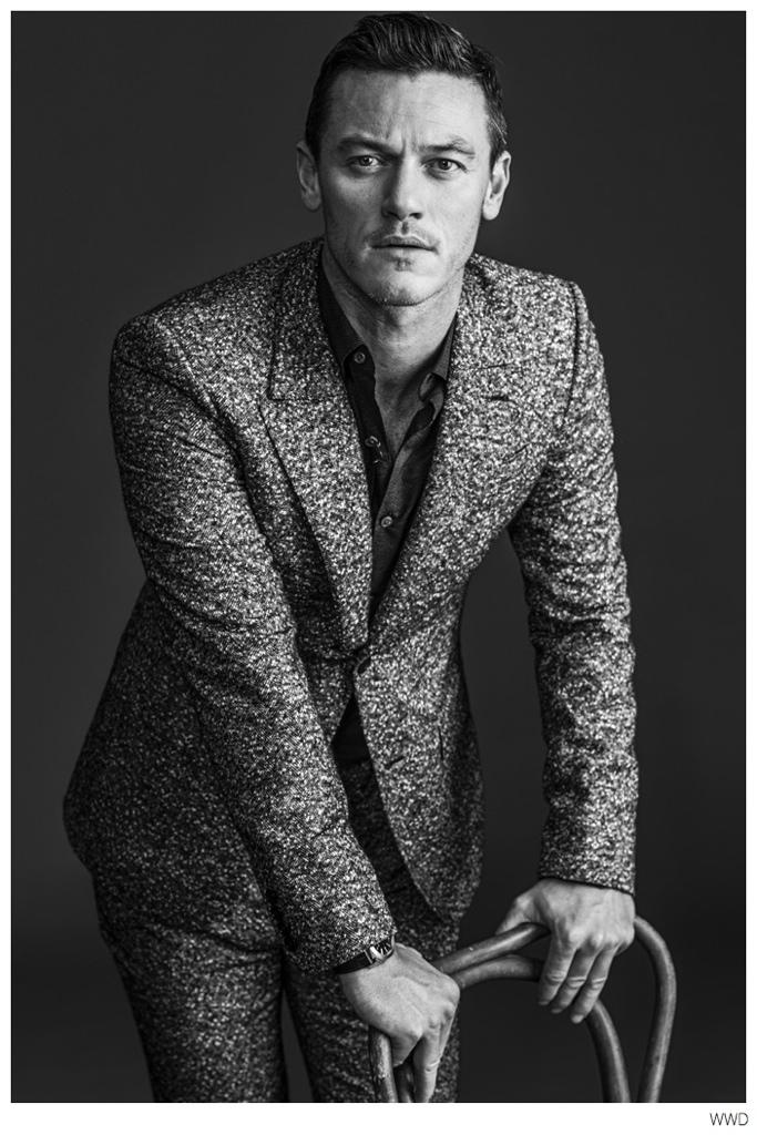 Luke Evans Stars in WWD Photo Shoot to Promote 'Dracula Untold'