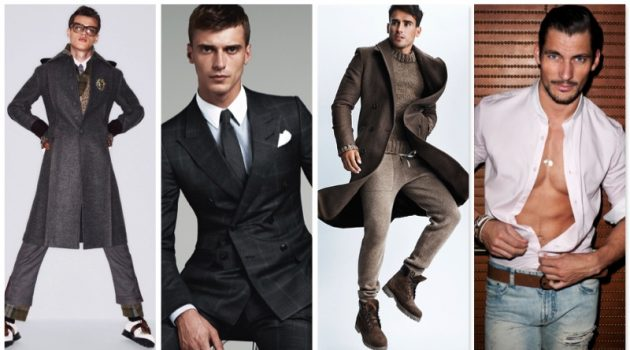 Filip Hrivnak, Clément Chabernaud, Arthur Kulkov, and David Gandy provide amazing inspiration for male model poses.