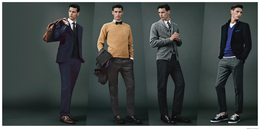 Mathias Bergh Dons Fine Autumn Suits for Marks & Spencer