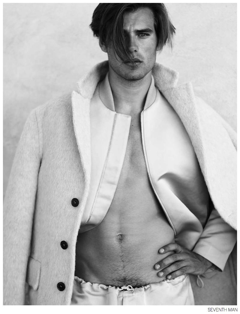 Matt Trethe is Casual in Acne Studios Fall 2014 Fashions for Seventh Man