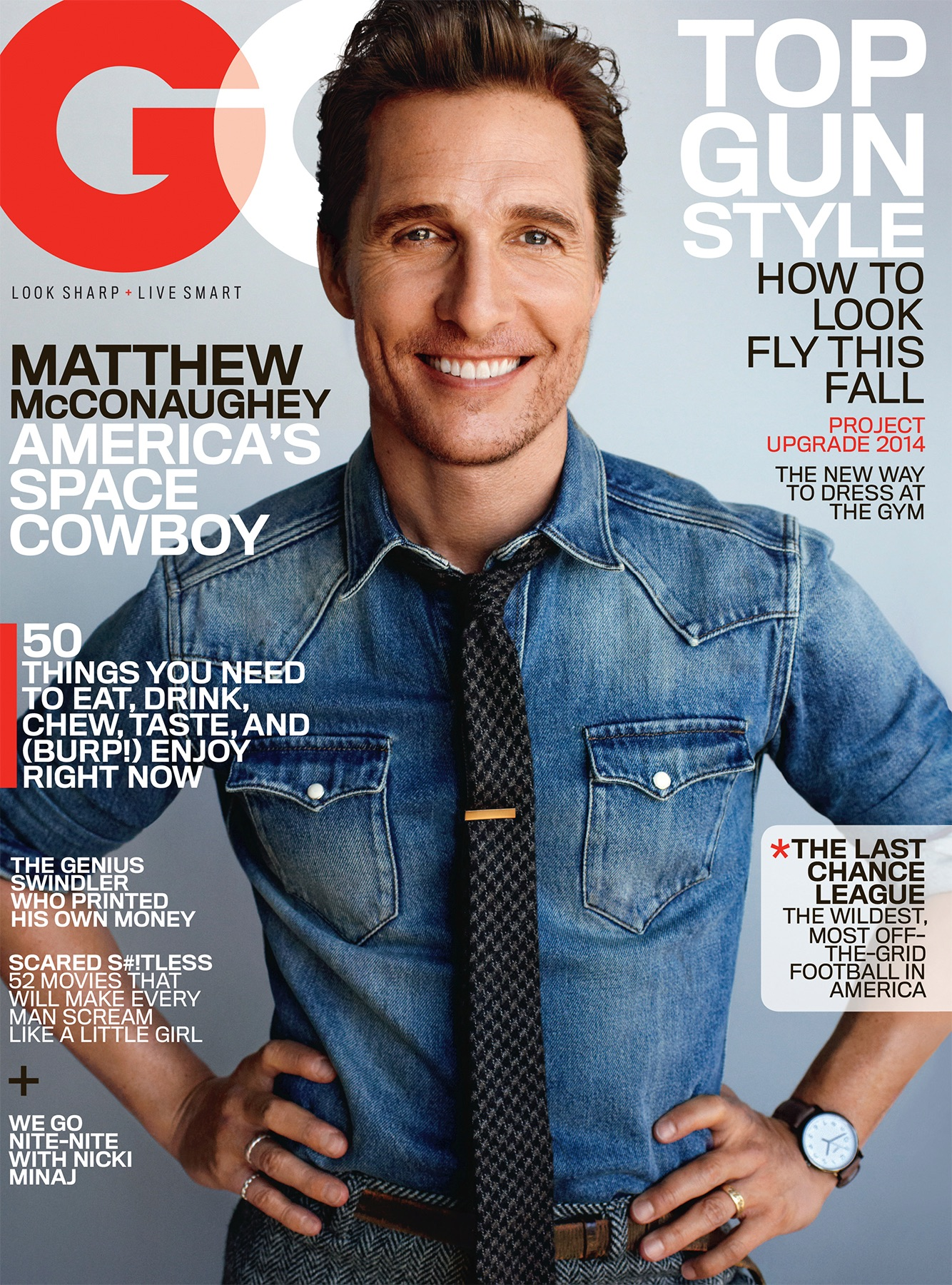 Matthew McConaughey Covers GQ November 2014 + Wears Tweed Suits for Photo Shoot