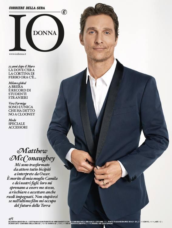 Matthew McConaughey Covers IO Donna in Dolce & Gabbana