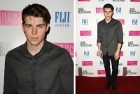 Richard Chai scored again with actor Nolan Gerard Funk wearing a shirt from the New York-based label's fall-winter 2014 collection. Nolan kept it simple with the reinterpreted dress shirt as he hit the premiere of 'White Bird in a Blizzard' in Hollywood on October 21st.