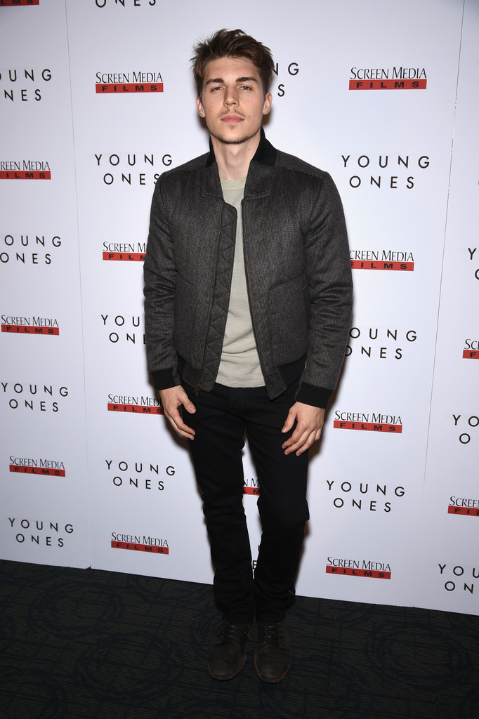 Nolan Gerard Funk Wears Richard Chai Quilted Bomber Jacket to 'Young Ones' Premiere