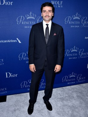 Showing off his new mustache, actor Oscar Isaac attended the 2014 Princess Grace Awards Gala on October 8, 2014 in Beverly Hills. For the occasion, Isaac wore a tailored suit from Ermenegildo Zegna Couture, which is helmed by head of design, Stefano Pilati.