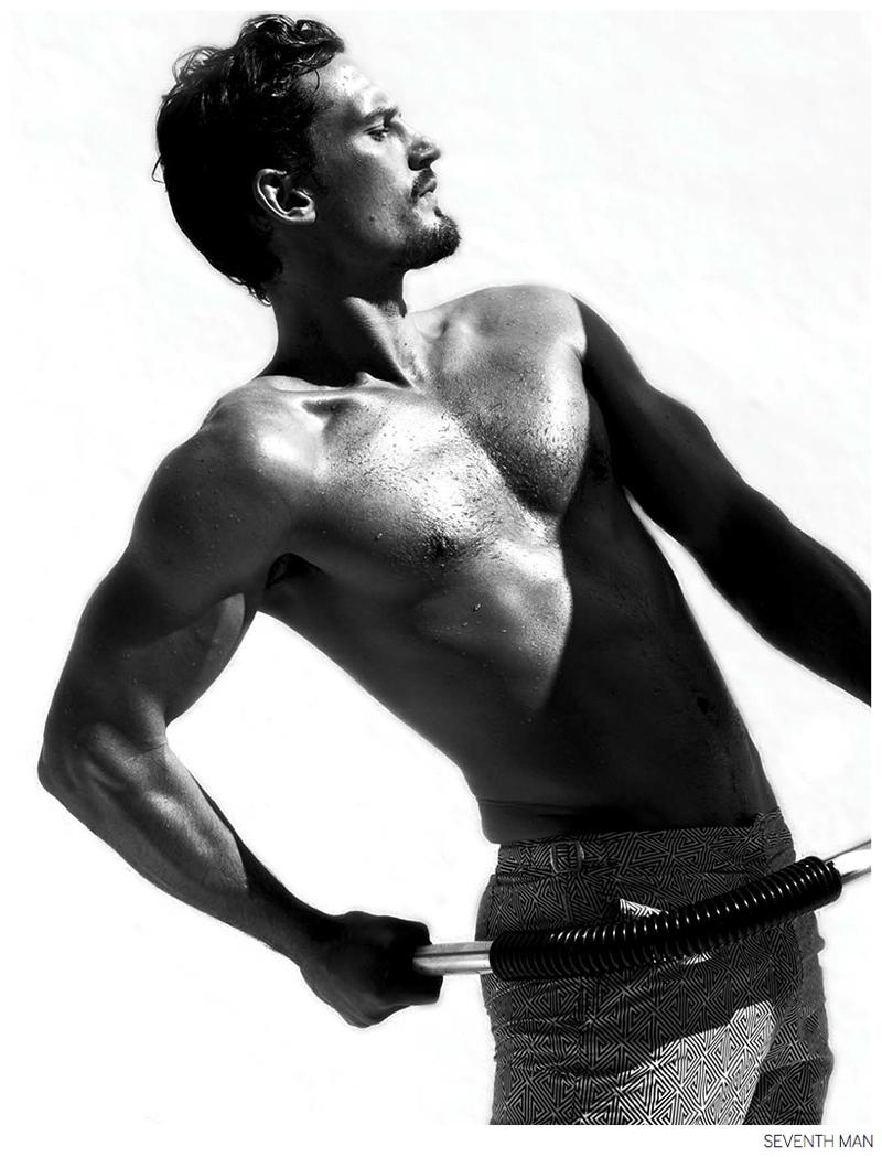 Sam Webb Models Orlebar Brown for Seventh Man
