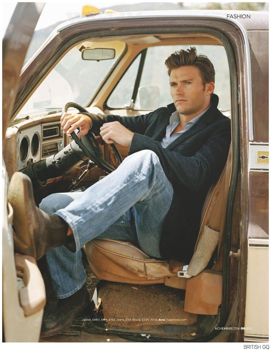 Scott Eastwood Stars in BOSS Photo Shoot for British GQ November 2014 Issue