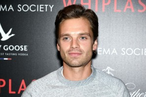 Attending the New York screening of 'Whiplash' in New York City on September 29, 2014, actor Sebastian Stan was a casual vision in denim jeans and a comfortable marle gray pullover.