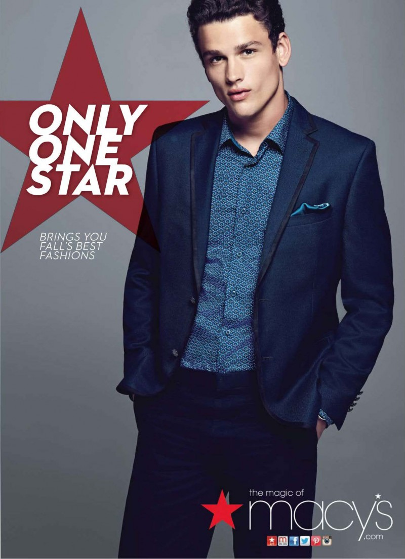 Simon Nessman Goes Formal for Macy's Fall 2014 Campaign