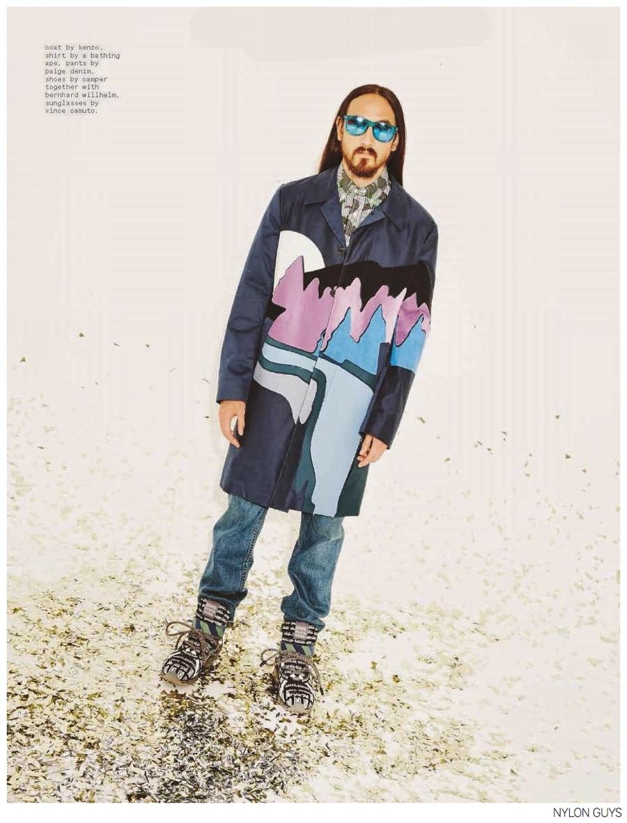 Steve Aoki Rocks Eclectic Fall Fashions for Nylon Guys November 2014 Photo Shoot