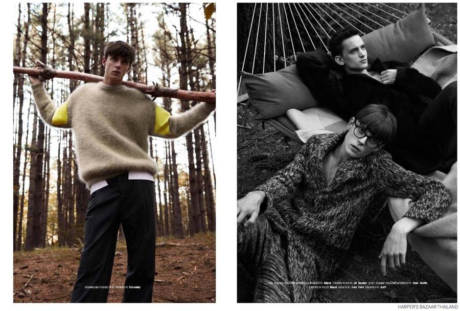 Up Country: Brayden, Gustaaf & Mike for Harper's Bazaar Thailand