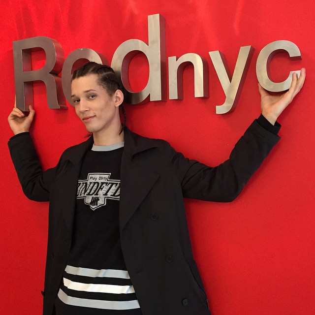 Abiah Hostvedt poses for a fun image at his New York agency Red.