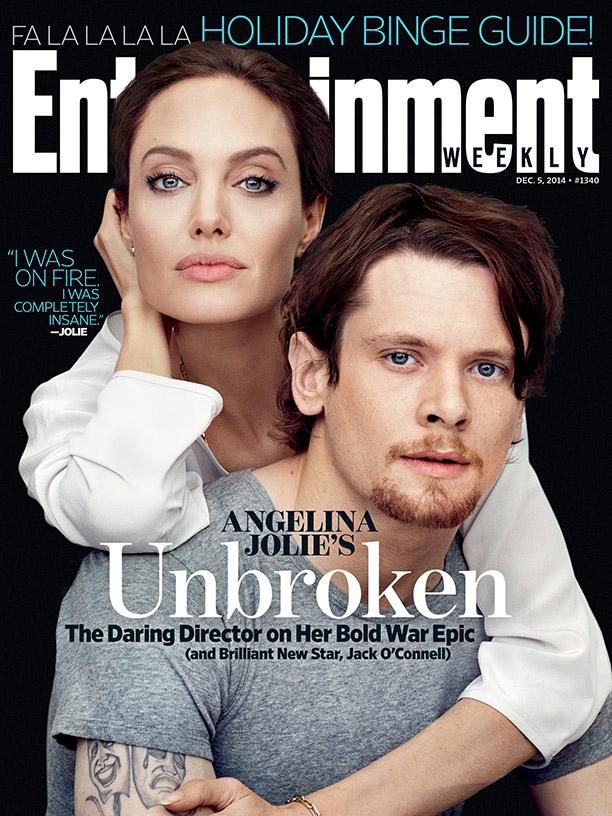 Angelina Jolie & Jack O'Connell Cover Entertainment Weekly ... Джек О'Коннелл и Его Девушка