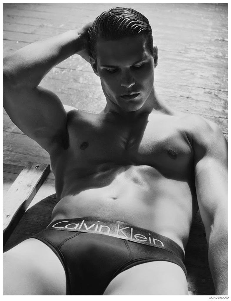 Austin Scoggin Models Designer Underwear For Wonderland