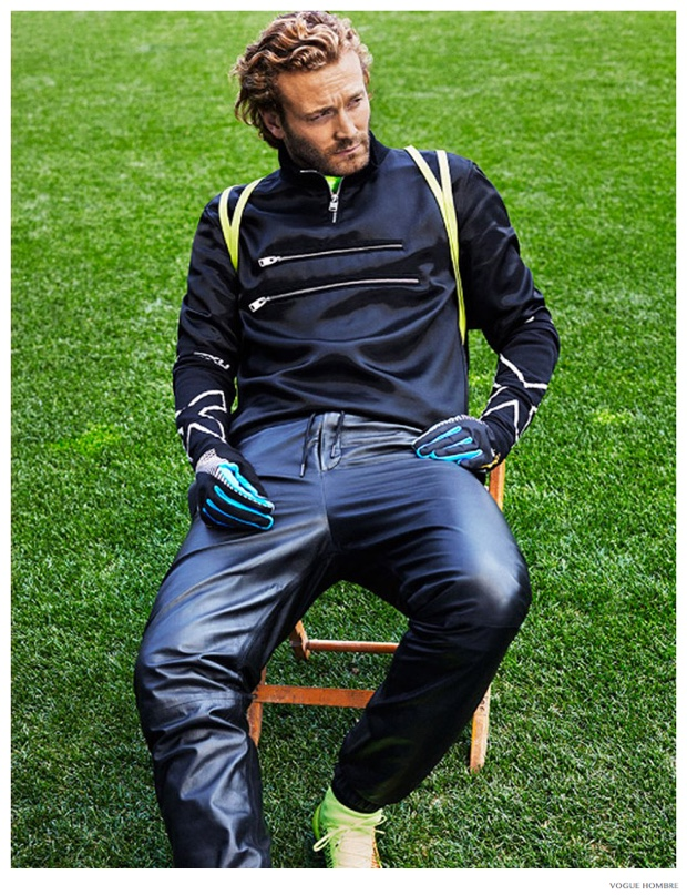 Brad Kroenig Models Sporty Fashions for Vogue Hombre Fall/Winter 2014 Cover Story