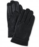 Calvin Klein Quilted Leather Touchscreen Gloves