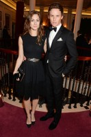 Joined by Hannah Bagshawe, actor Eddie Redmayne cleans up in a Burberry tuxedo.