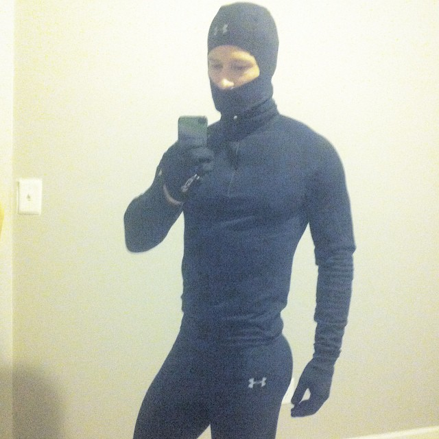 Ellis McCreadie is ready to work out and combat the New York cold.