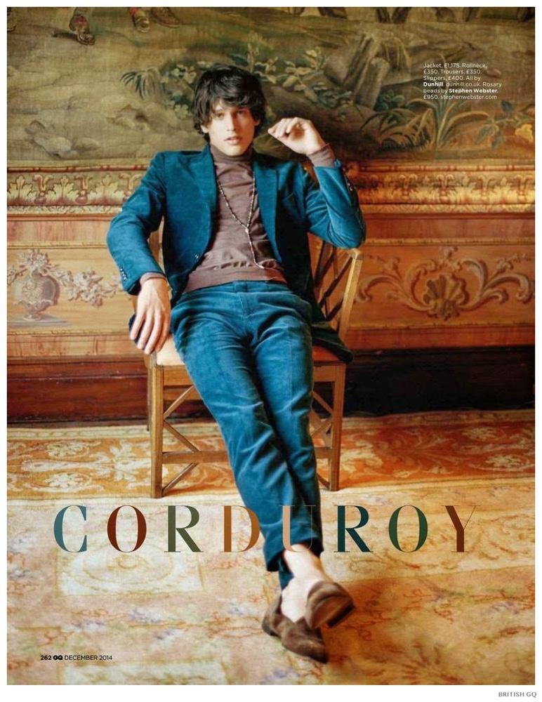 Corduroy Cool: Simon van Meervenne Rocks Fall Corduroy Styles for British GQ