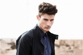 Mauro wears shirt Mirto, jacket Ben Sherman and pants Kapala.