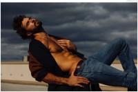 Walter wears coat stylist's own, jeans R13 and belt Billy Reid.