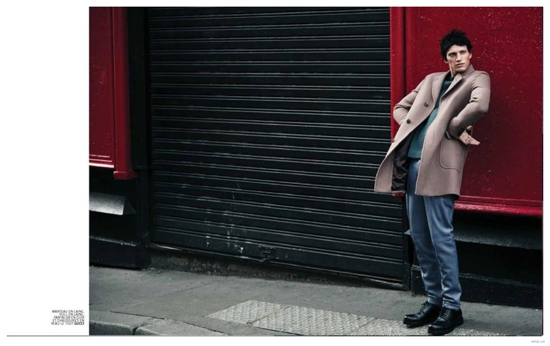 Like a Hobo: Florian Van Bael Dons Jet Black Wig for Apollo Editorial