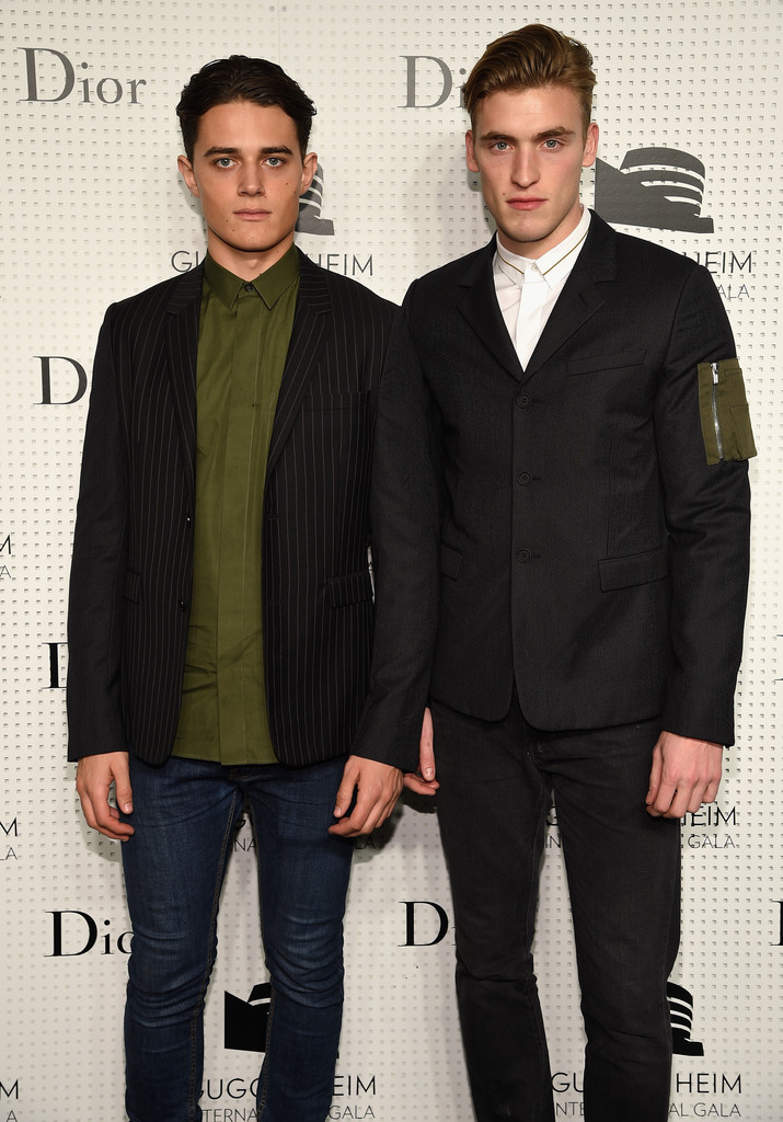Models George Elliott and Sam Worth