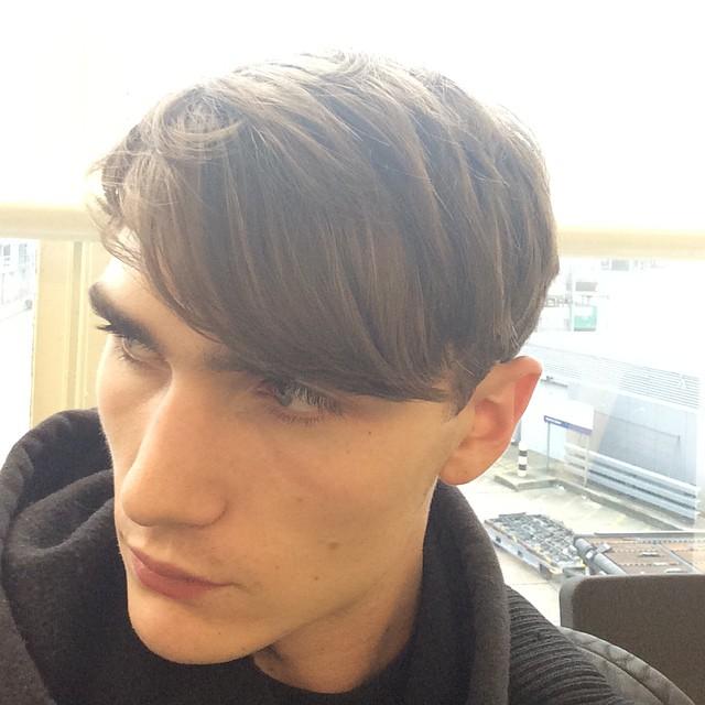 Gryphon O'Shea unveils a new haircut.