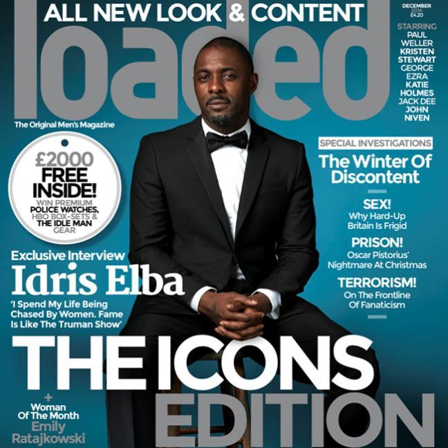 Idris Elba Covers Loaded Magazine, Dishes on Fame & Paranoia