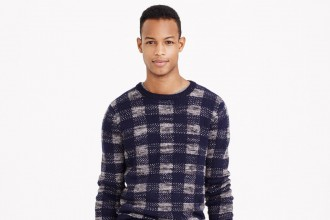 Italian Lambswool Buffalo Check Sweater